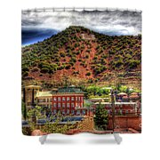 B Hill Over Historic Bisbee Shower Curtain