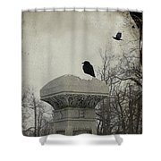 B Is For Blackbirds Shower Curtain