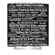 B Movies Science Fiction 20130627bw Shower Curtain