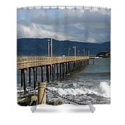 B Street Pier Shower Curtain