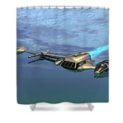 B Wing Aircraft Shower Curtain