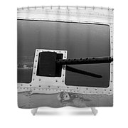 B17 50 Cal Machine Gun Shower Curtain
