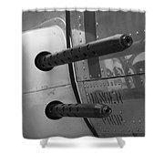 B17 Bomber Side Guns Shower Curtain