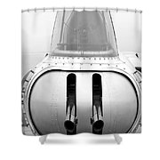 B17 Bomber Tail Guns Shower Curtain