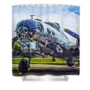B17 Bomber Yankee Lady Shower Curtain