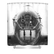 B17 Nose Guns Shower Curtain