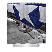 B17 Texas Raiders V12c Shower Curtain
