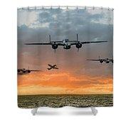 B25 Escape Shower Curtain