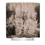 The Three Crosses, Circa 1660 Shower Curtain