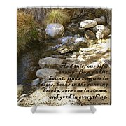 Babbling Brook William Shakespeare Quote Shower Curtain