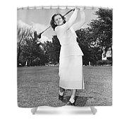 Babe Didrikson Golfing Shower Curtain