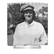 Babe Didrikson Portrait Shower Curtain