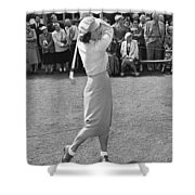 Babe Didrikson Teeing Off Shower Curtain