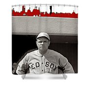 Babe Ruth As Member Of The Boston Red Sox National Photo Company Collection 1919-2013 Shower Curtain
