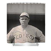 Babe Ruth With The Sox Shower Curtain