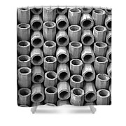 Babel In Black And White Shower Curtain