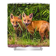 Babes In The Woods 2 - Paint Shower Curtain