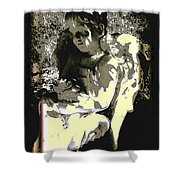 Baby Angel With Teddy Shower Curtain