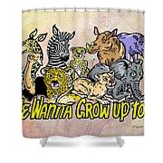 Baby Animals Shower Curtain