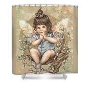 Baby Berry Fairy Shower Curtain