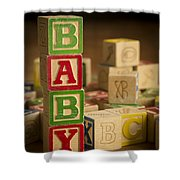 Baby Blocks Shower Curtain