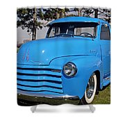 Baby Blue Chevy From 1950 Shower Curtain