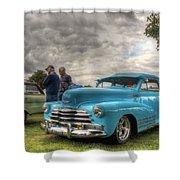 Baby Blue Fleetline Shower Curtain