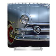Baby Blue Ford Shower Curtain