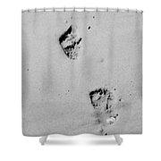 Baby Footprints On The Beach Shower Curtain
