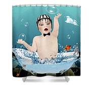 Baby Fun Time Shower Curtain