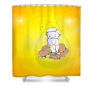 Baby In Teardrop 2 Shower Curtain