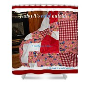 Baby It's Cold Outside Quilt  Shower Curtain
