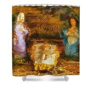 Baby Jesus Silent Night Photo Art Shower Curtain