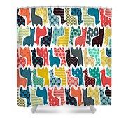 Baby Llamas Shower Curtain