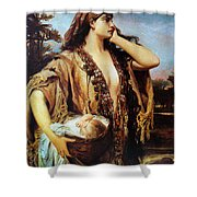 Baby Moses And Jacabed Shower Curtain