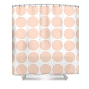 Baby Pink Polka Dots Shower Curtain