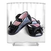 Baby Shoes Shower Curtain
