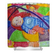 Baby Ted In Motion Portrait  Shower Curtain