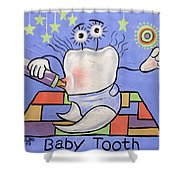 Baby Tooth Shower Curtain by Anthony Falbo