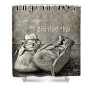 Baby's First Shoes Shower Curtain