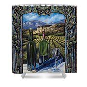 Bacchus Vineyard Shower Curtain