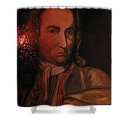 Bach Portrait After Heavy Varnish Shower Curtain
