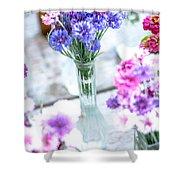 Bachelor Flowers Shower Curtain