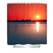 Back Bay Sunset I Shower Curtain
