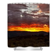 Back Country Sunset Shower Curtain