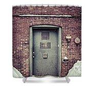Back Door Alley Way Shower Curtain