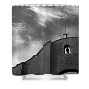 Back Entrance Arch San Xavier Del Bac Mission 1979 Shower Curtain