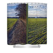 Back Forty - Gently Cross Your Eyes And Focus On The Middle Image Shower Curtain