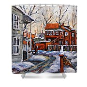Back Lanes 02 Montreal By Prankearts Shower Curtain