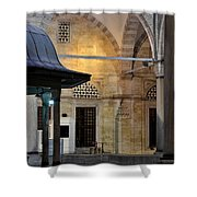 Back Lit Interior Of Mosque  Shower Curtain